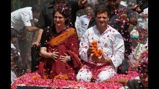 Priyanka Gandhi Vadra arrives in Lucknow, mega roadshow to begin shortly