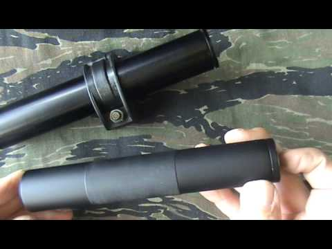 AIR GUN SUPPRESSOR 22lr HMR RIMFIRE RIFLE SILENCER DESIGNS UNKNOWN GERMAN MAKE Pt1