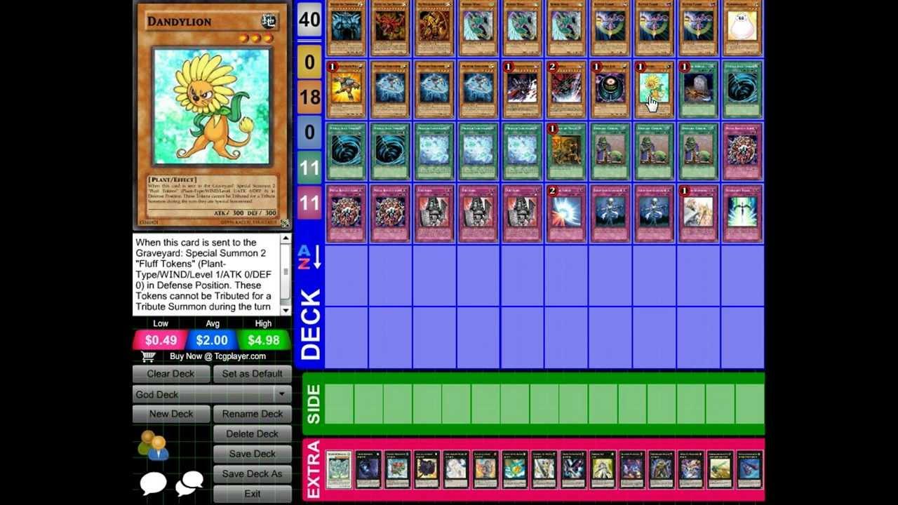 Yugioh Egyptian God Cards Deck God Card Deck 2013 Tcg