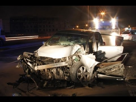 Accident In Dubai Sharjah Road at Night
