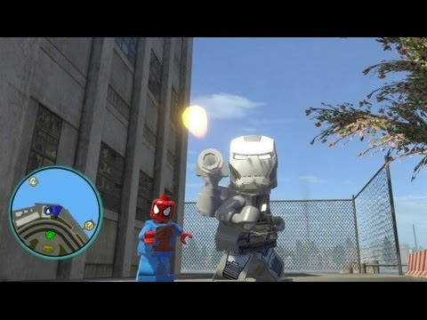 LEGO Marvel Super Heroes (PS4) - War Machine Free Roam Gameplay