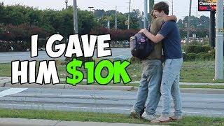 Giving A Random Homeless Man $10,000
