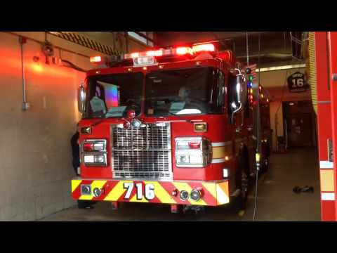 2008 MCFRS Engine 716 responding to unknown box alarm
