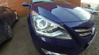 Тюнинг а потом ремонт после аварии Hyundai Solaris в студии ALFA CAR