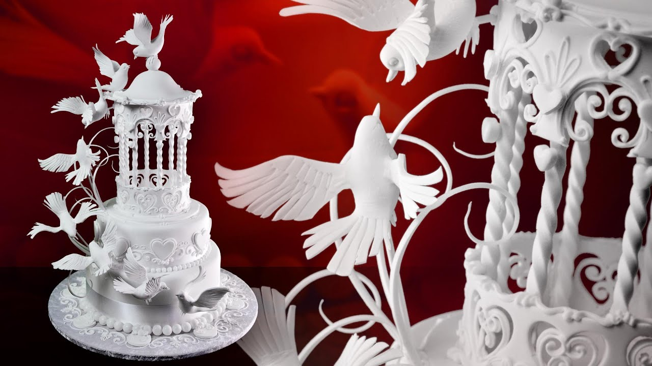 Gazebo Amp Doves Wedding Cake Sample Video How To Make