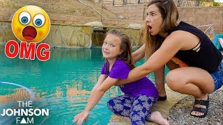 OUR GIANT POOL DISCOVERY on MOM'S BIRTHDAY! 😳