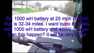 72V 3000W Cyclone ebike gas hybrid - New 240W Charger test