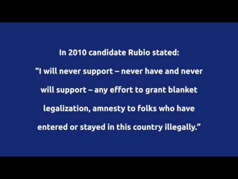 Marco Rubio - The Amnesty Man Supports Legalization for Illegal Aliens
