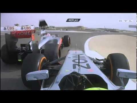 F1 Bahrain GP 2013 - F1 Jenson Button Vs Sergio Perez Team Radio Battle