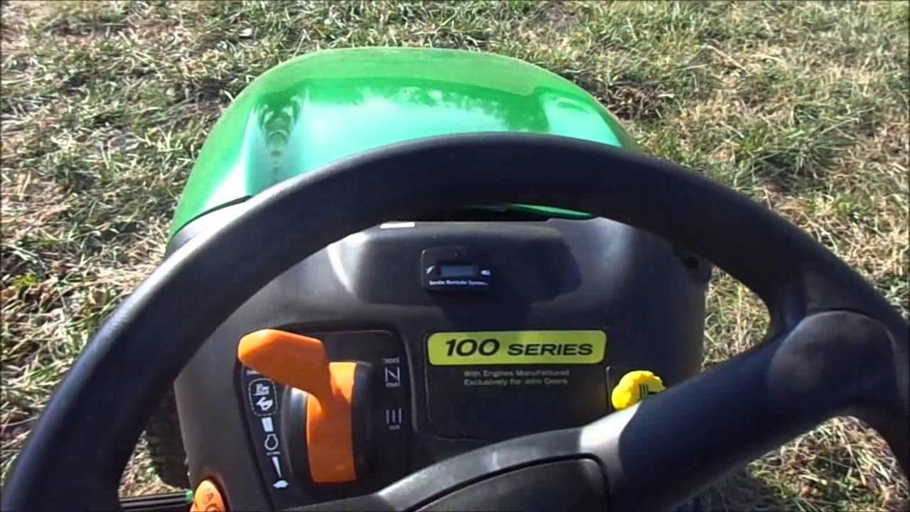John Deere La145 Riding Lawn Mower Youtube