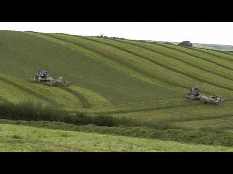 Silage 2011 - Fourth Cut, Two Rakes.