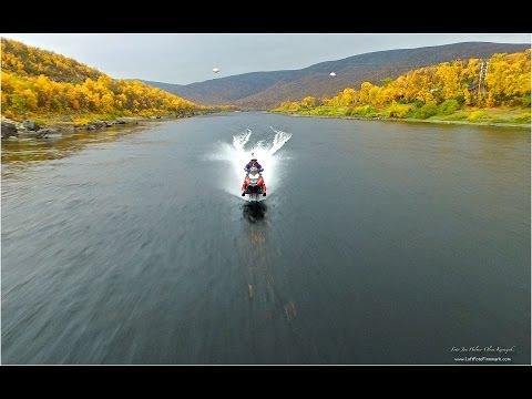 スノーモービルで水上を走る!?世界記録達成映像