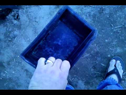 Diy pond skimmer works very well youtube for Homemade pond skimmer
