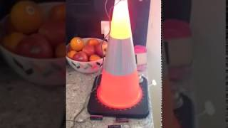 Led lighting for safety cone