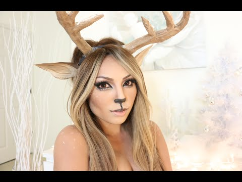 Girl Reindeer Reindeer Girl Makeup Tutorial