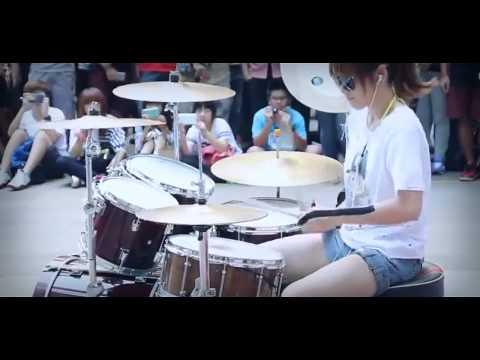 Amazing Asian Girl Drumming Bigbang Fantastic Baby video