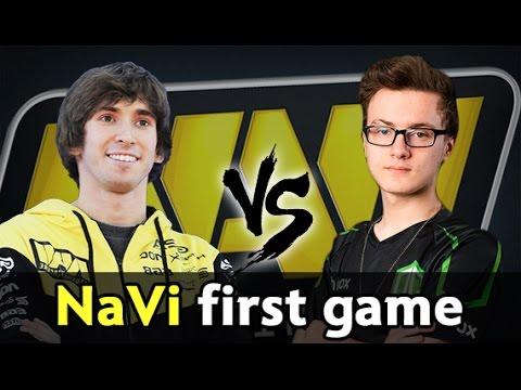 New NaVi first game — Dendi vs Miracle mid