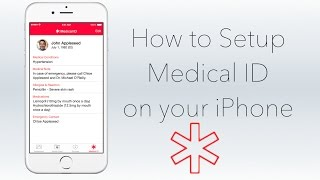 Setup Medical ID on Your iPhone [HOW TO]