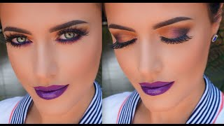 Purple & Coral Spring Look