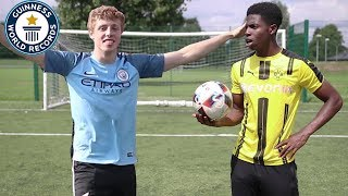 Beating WROETOSHAW Football Challenge World RECORD with ChrisMD..