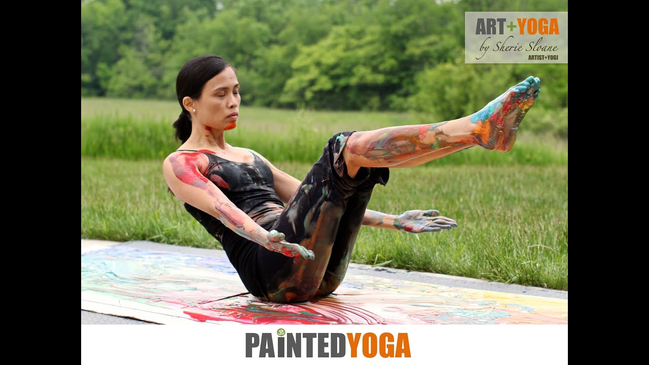Body Paint Yoga Paint by Yoga Canvas Painting