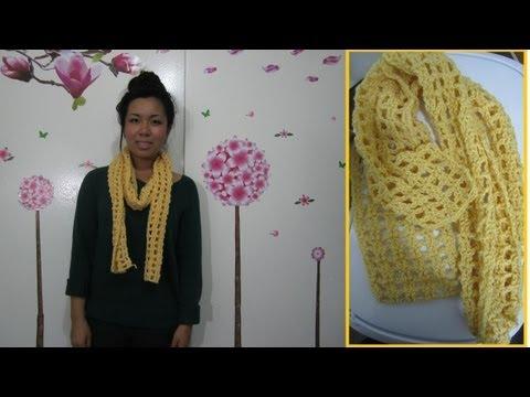 DIY: Waffle Scarf Crochet Tutorial (Great for Beginners!)