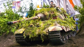 HEAVY WEIGHT 180 KG RC MODEL SCALE TANK TIGER 2 IN DETAIL AND MOTION!!