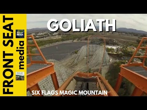 Legendary coaster designer Werner Stengel's Magic Mountain masterpiece, Goliath's 255-feet tall initial drop held the world record for tallest and fastest (8...