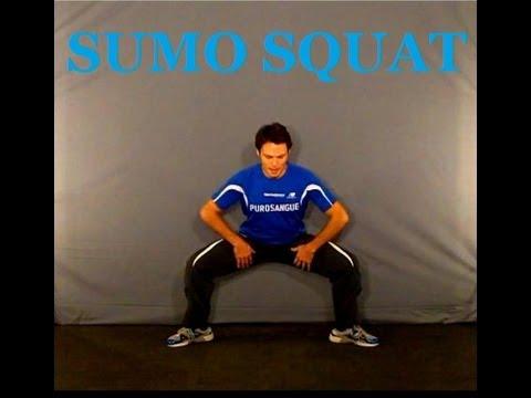 esercizi  cosce e glutei - SUMO SQUAT /PERSONAL TRAINER allenamento gambe