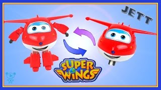 Super Wings Toys Video for children - Super Wings Jett toy review - jet plane toys for kids video