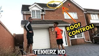 CONTROL FROM THE ROOF!! | Driveway First Touch challenge!!