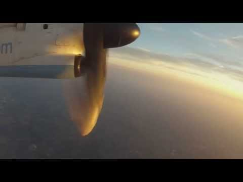 Takeoff from Brussels (Flybe/Brussels Airlines DHC-8)