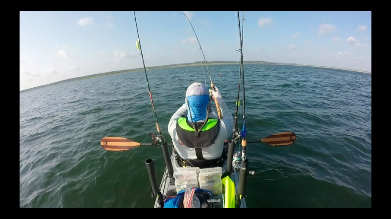 Catch me if you paddle season 1 ep 8 offshore kayak bass for Offshore kayak fishing