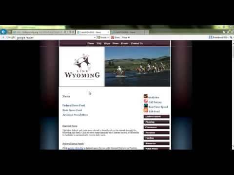LinkWYOMING RSS Feed Tutorial