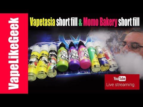 Παρουσιαση Vapetasia short fill & Momo Bakery short fill {{ VAPE LIVE SHOW }} thumbnail