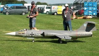 LOCKHEED F-104G STARFIGHTER RC TURBINE JET AEROBATIC FLIGHT ARND BALZEREIT PORZER AIRSHOW