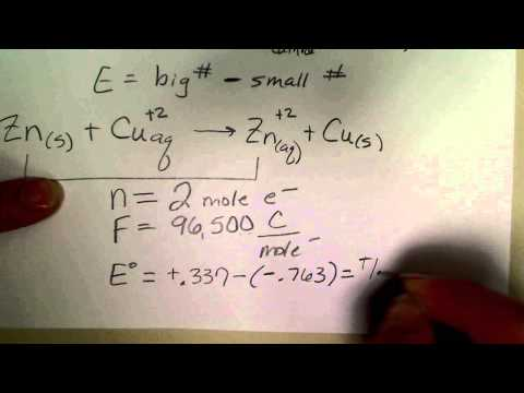 Calculate Gibbs Free Energy Change In An Electrochemical Cell