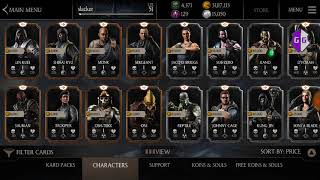 Mortal Kombat X Mobile - Unbanned account for version 1.18