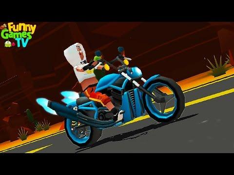 Игровой мультик про машинки и мотоциклы Веселые гонки по трассам мультфильм для детей Faily Rider