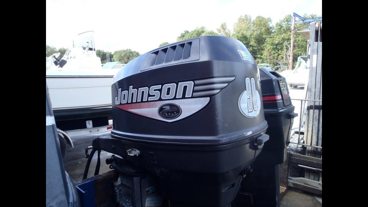 6m2829 Used 1999 Johnson J90pleeb 90hp 2 Stroke Outboard