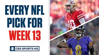 Brady Quinn and Pete Prisco make EVERY WEEK 13 NFL Pick | CBS Sports HQ