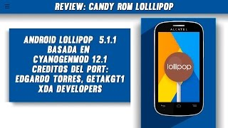Review: Candy ROM CM 12.1 Alcatel Pop C3