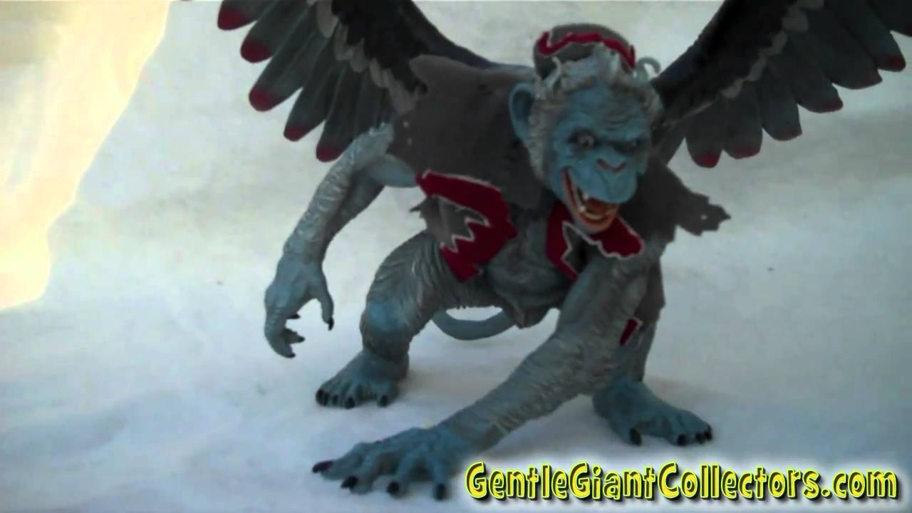 Gentle giant wizard of oz flying monkey statue first look youtube