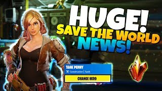 HUGE! FORTNITE Save The World NEWS!