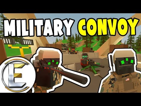 MILITARY CONVOY STOPPED BY ROADBLOCK - Unturned Serious Roleplay (Find Out Why They Attacked?) thumbnail