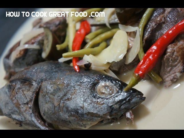 Ginataang Tulingan Recipe - Tuna Coconut Milk Pinoy Tagalog