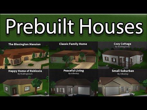 Reviewing All Prebuilt Houses!   Roblox - BloxBurg