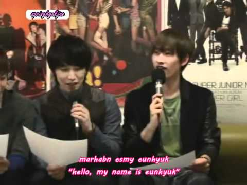 [eng Sub] Super Junior Talking Arabic Cut video