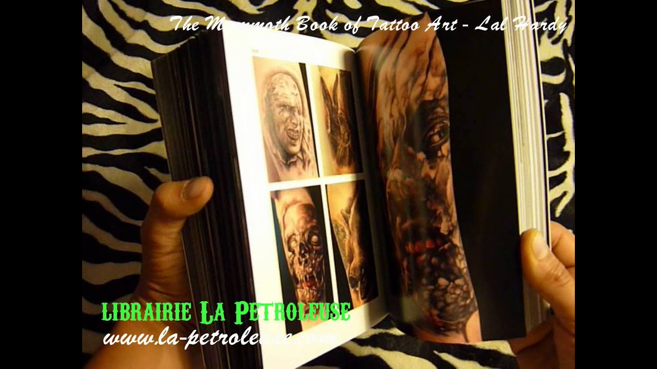 livre book the mammoth book of tattoo art lal hardy