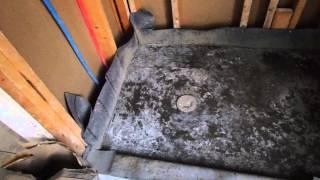 HUGE TILE MISTAKE (Contractor pours CONCRETE shower pan ! )